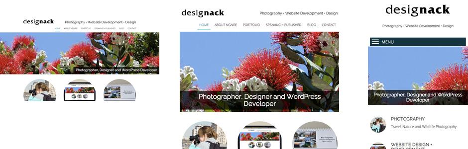 Responsive layouts of designack.com