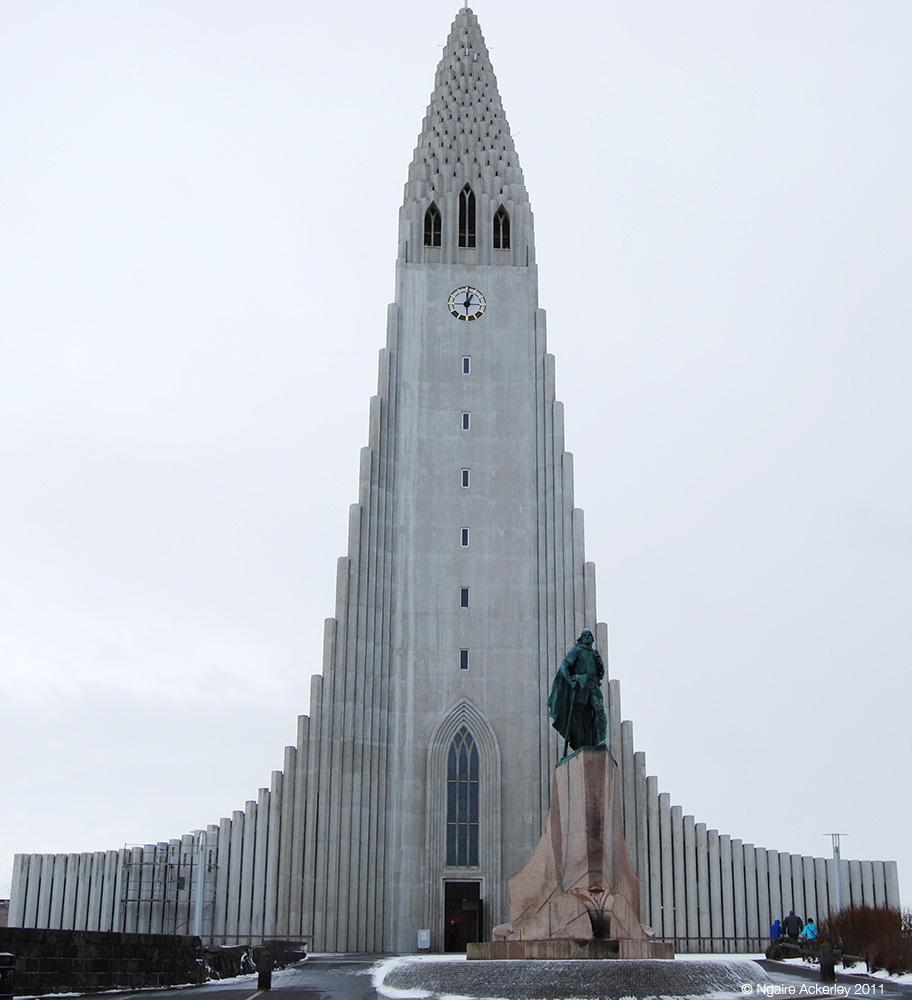 Church in Reykjavik, Iceland.