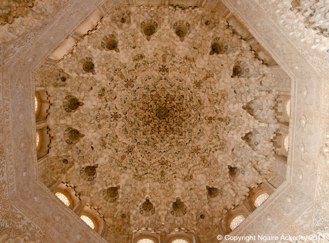 Roof detail, Alhambra, Granda, Spain.