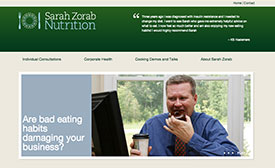 sarah zorab nutrition website