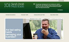 sarah zorab nutrition website