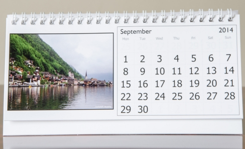 Month of September, 2014 Calendar