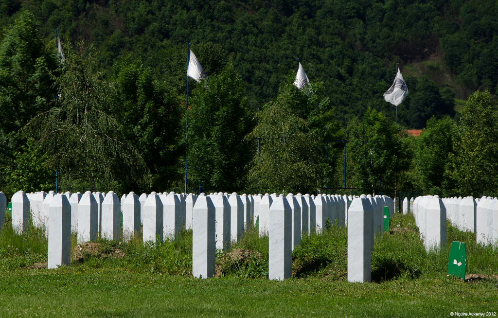 Graves at Srebrenica, Bosnia and Herzegovina.