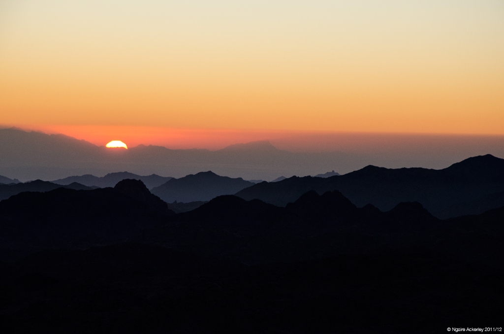 Sunrise from Mt. Sinai, Egypt.