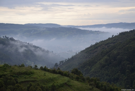 View near Lake Bunyonyi, Uganda.
