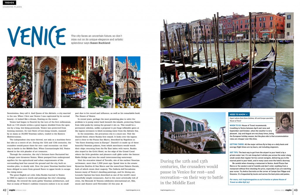 Venice Photographs in Inspire Magazine
