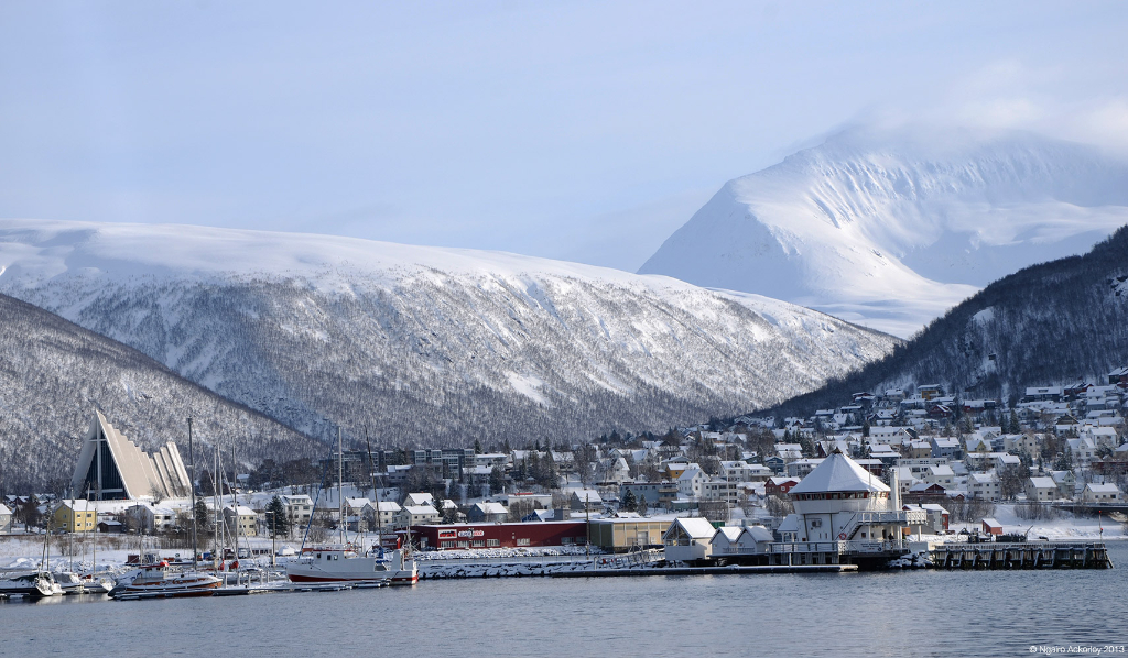 View over Tromso, Norway.