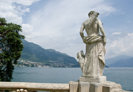 Statue at Villa Balbianello, Lake Como, Italy.