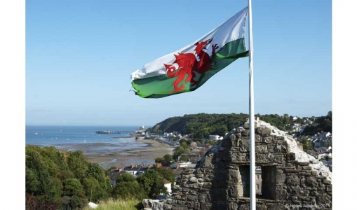 Wales and flag