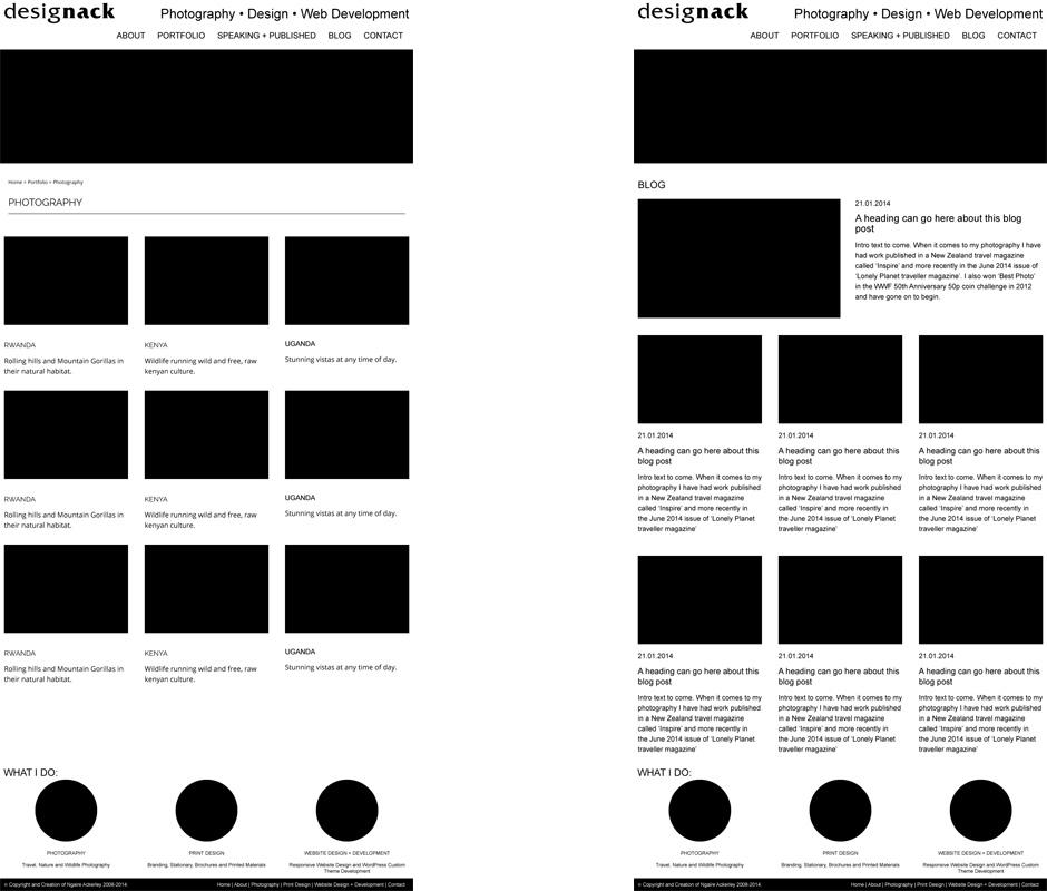 Wireframe-design process of portfolio and blog