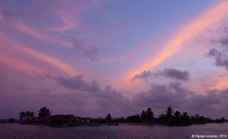 San Blas Island at dusk - taking a break