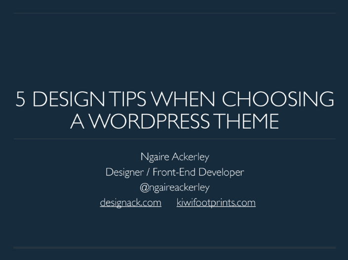 5 Design Tips when choosing a WordPress theme