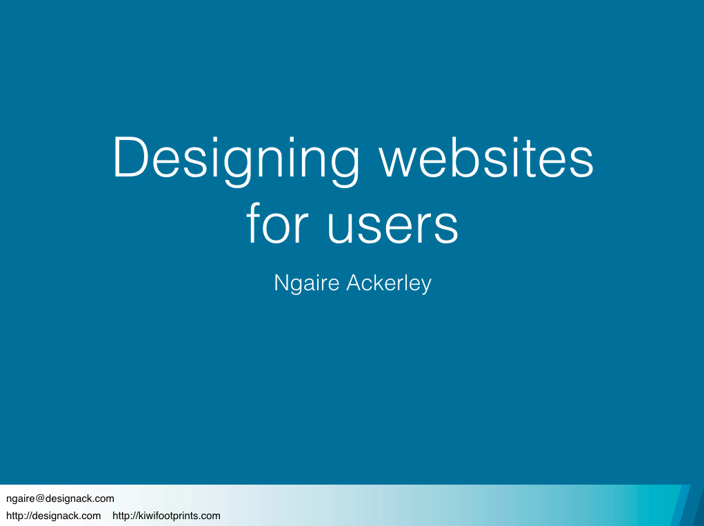 Designing websites for users