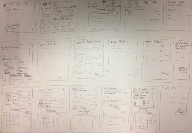 wireframes sketch ideas