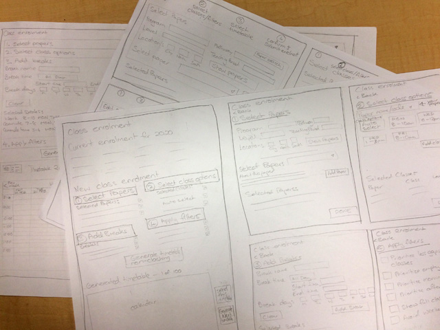 expanded wireframes